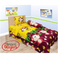 Harga Sprei Internl Single 120 Monkey Fullset Murah