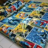 Spek Sprei Karakter Motif Batman Vs Spiderman Single 120X200X20 Jk Collection