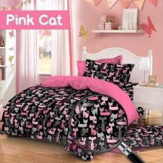 Review Terbaik Sprei Katun Catra Motif Pink Cat Ukuran 90X200X20Cm Toko Warna Warni
