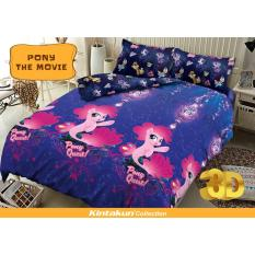 Sprei Kintakun D Luxe Uk 180X200 Motif Pony The Movie Murah