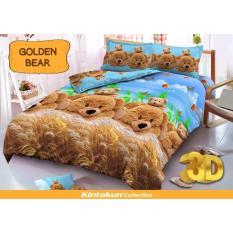 Harga Sprei Kintakun Dluxe 180X200 Cm Motif Golden Bear Origin