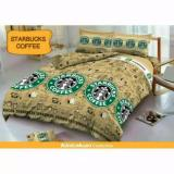 Harga Sprei Kintakun D Luxe Single 120 X 200 Starbucks Coffee Murah