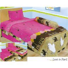 Spesifikasi Sprei Lady Rose 120X200 Love In Paris Lengkap Dengan Harga