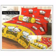 Isthana Collection Sprei Lady Rose 160x200 Kitty&Daniel Red (Buat Kasur .