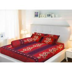 Sprei Lady Rose King (180x200) batik merah