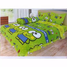 Sprei Lady Rose No.1 180 x 200 (king size) motif Keroppi