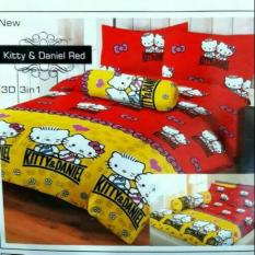 Harga Sprei Lady Rose Single Uk 120X200 Motif Hello Kitty Red Indonesia