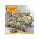 Harga Sprei Murah Bedcover D Luxe Kintakun Ukuran 120 X 200 Starbucks Coffee Sprei Murah Asli