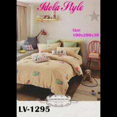 Promo Sprei Murah Katun Jepang Warna Coklat 1295 100X200X30 Sprei Murah Terbaru