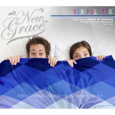 Jual Sprei New Pulento Microtencel Motif Gradasi Blue Blue Aurora 120 X 200 Satu Set