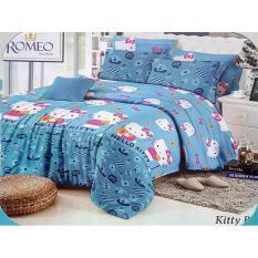 Cuci Gudang Sprei Romeo Ukuran 180 X 200 King No 1 Hello Kitty Blue