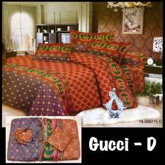 Sprei Sepre Seprei Seprai Bedcover Set Gucci Ukuran No 1 King Size (Sprei Ukuran 180X200) Premium