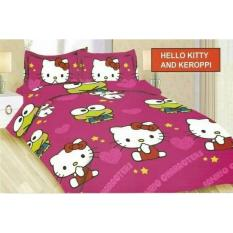 Sprei Single 120 x 200 Hello kitty dan keropi - Bonita (no.3)