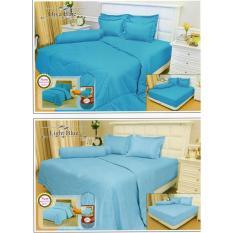 Sprei Vallery light blue 180x200 tinggi 30cm