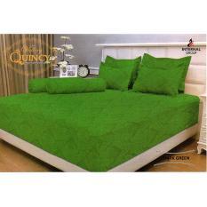 Jual Sprei Vallery Quincy Jacquard Dark Green King Size 180 X 200 X 30 Cm Ori
