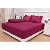 Review Sprei Vallery Quincy King B2 Dark Red Vallery