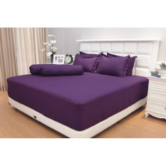 Review Sprei Vallery Quincy King B2 Purple