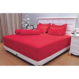 Harga Sprei Vallery Quincy Queen 160X200 Red Paling Murah