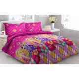 Obral Sprei Vito Disperse Plat 2 Bantal Barbie Murah
