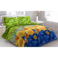 Harga Sprei Vito Disperse Yellow Roses Plat King 4 Bantal 180X200X20 3D Di Jawa Barat