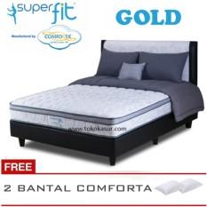 Spring Bed Comforta Super Fit Gold Uk.180x200 Komplit Set