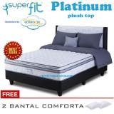 Spring Bed Comforta Super Fit Platinum Uk 180X200 Hanya Kasur Tanpa Divan Dan Sandaran Asli