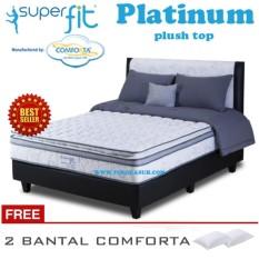 Spring Bed Comforta Super Fit Platinum Uk.180x200-Hanya Kasur Tanpa Divan dan Sandaran