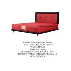 Spring Bed Springbed Tempat Tidur Kasur Pegas Per Multibed 160 x 200 Merah