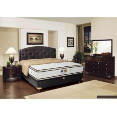 springbed cassola double pillow top 100x200 full set (jakarta dan tangerang)