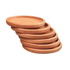 Persegi dan Bulat Mini Palet Kayu Wiski Anggur Kaca Cangkir Tatakan Pad Hot Cold Drink Coasters Mug Meja Dapur Kayu Tikar-Intl
