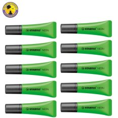 Harga Stabilo Neon Set 10 Green Branded