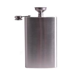 Spesifikasi Stainless Steel 283 5G Minum Minuman Keras Alkohol Botol Whiskey Pinggul Sekrup Tutup Corong
