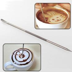 4 Pcs Stainless Steel Coffee Latte Art Pen Tool untuk Kopi Espresso Mesin-Intl
