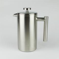 Stainless Steel Coffee Pot French Press dengan Keranjang Botol Kopi Teh Maker Double Wall Bahasa Perancis Cafetiere 800 Ml-Intl