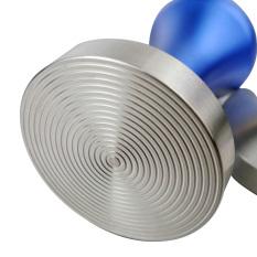 Spek Stainless Steel Mesin Penumbuk Kopi 57Mm Diameter Dasar Biru Perak