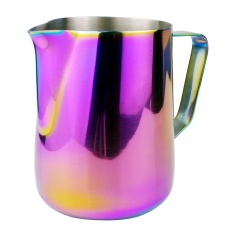 Stainless Steel Frothing Jug Coffee Pitcher Craft Coffee Jersey Frente (Multicolor)-350 Ml