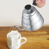 Cara Beli Stainless Steel Hand Drip Pot Coffee Tea Kettle With Gooseneck Shaped Spout Intl