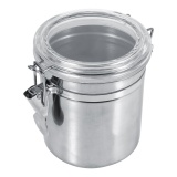 Promo Stainless Steel Kitchen Food Storage Container Bottle Sugar Tea Coffee Beans Canister M Intl Murah