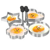 Harga Stainless Steel Dadar Goreng Telur Cincin Pancake Cetakan Set Of Heart Star Round Flower Shaped Oem Asli