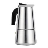 Moka Pot Stainless Steel Cerek Penapis Kopi Espresso Pembuat Kompor Di Rumah Digunakan Di Kantor 100 Ml International Oem Diskon 50