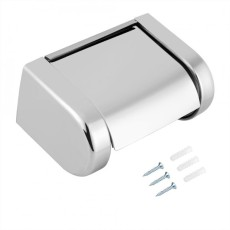 Stainless Steel Roll Paper Holder Rack Bracket Dinding Handuk Kamar Mandi Toilet-Intl