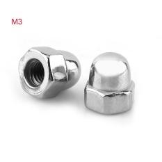 Jual Stainless Steel Ss304 Acorn Hex Nut Berulir Topi Kubah Nuts M3 100 Pcs Intl Oem