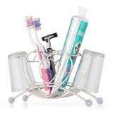 Jual Stainless Steel Sikat Gigi Holder Stand Bathroom Toothpaste Cup Sikat Gigi Penyimpanan Organizer Oleh Luckyg Intl Murah Di Tiongkok