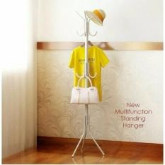 Toko Stand Hanger Multifungsi Hanger Berdiri Untuk Jaket Baju Tas Topi Dll Warna Putih Terlengkap