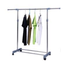 StarHome Jemuran Baju - Rak Pakaian Lipat - Drying Rack 1 Tiang Gantungan Baju - Silver