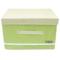 StarHome Rak Kain Storage Box - Kotak Keranjang Baju Besar V1 - Hijau