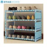 Harga Starhome Rak Sepatu Portable 4 Susun Onde 4 Tiers Shoe Rack Termahal