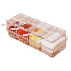 StarHome Rak Tempat Bumbu Seasoning Box Serbaguna 4 in 1 - Kristal