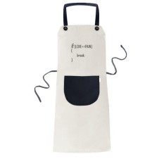 Laporan Jika Cinta Sama dengan Rasa Sakit Memasak Dapur Beige Adjustable Bib Apron Saku Women Pria Chef Hadiah-Intl