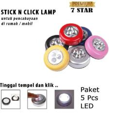 Stick N Click Lamp 7STAR Buy 4 Get 1 - 3 Mata LED/Stick Touch Lamp/Lampu Tempel Emergency (5 Pcs)